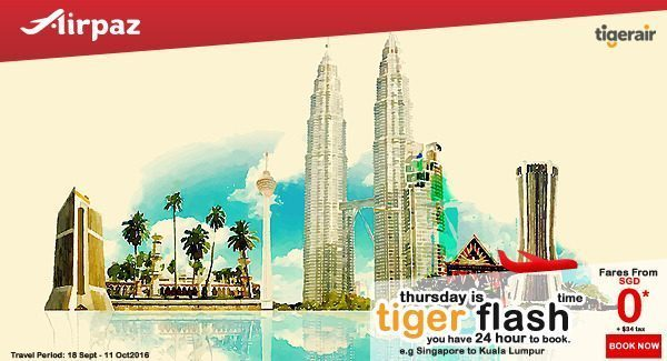 Tiger Air Tiger Flash Promotion 29 Sept on Airpaz