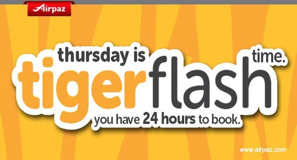 Tiger Flash Singapore Promotion on Airpaz