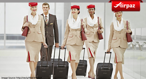 Emirates stewardess uniform