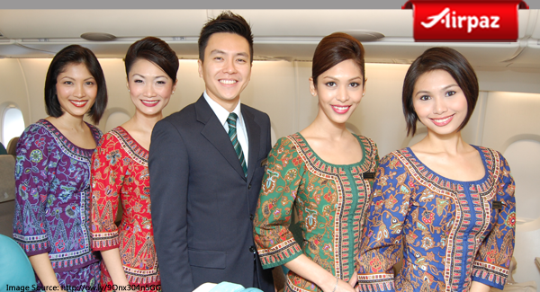 Singapore airliness stewardess uniform