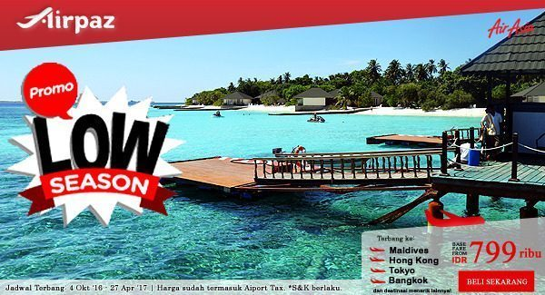 AirAsia Indonesia Promo Low Season di Airpaz