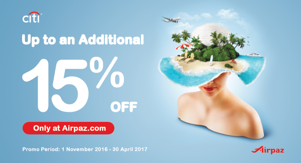 Airpaz Promo 15 percent off citibank