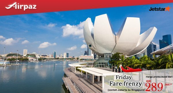 Jetstar Indonesia Friday Fare Frenzy 21 Oktober 2016