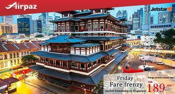 Jetstar Indonesia Friday Fare Frenzy di Airpaz 14 Oktober