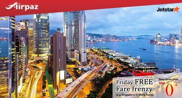 Jetstar SIngapore Friday Free Fare Frenzy 14 Oktober 2016