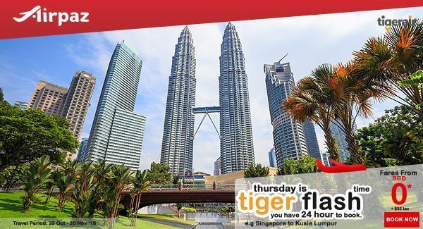 Tiger Air Singapore Tiger Flash Promotion on Airpaz