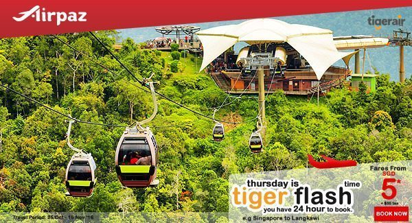 Tiger Air Sngapore Tiger Flash Promotion on Airpaz