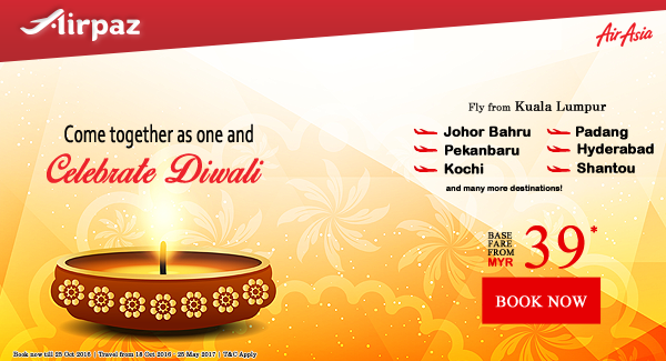 celebrate diwali promo airasia on airpaz