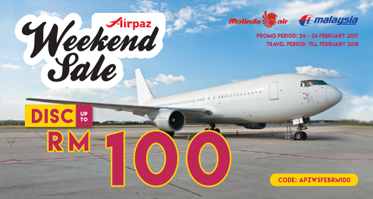 Airpaz Weekend Sale Malaysia Promo 24 - 26 February 2017