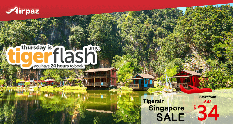 TigerAir Singapore Promotion! Tiger Flash on Airpaz