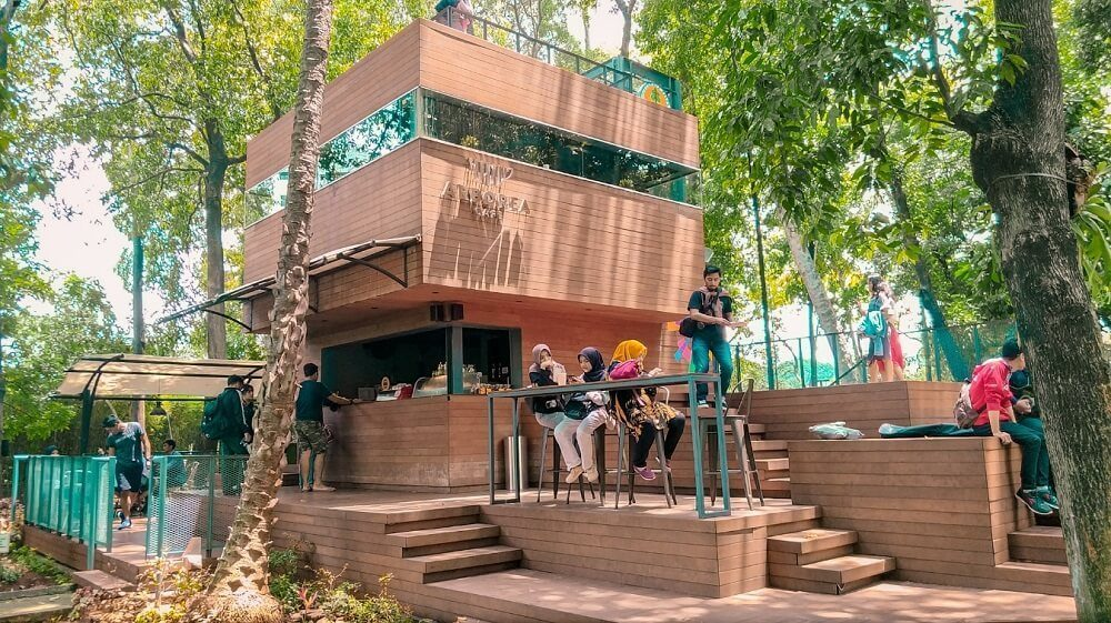 Arborea Cafe Jakarta dengan nuansa alam