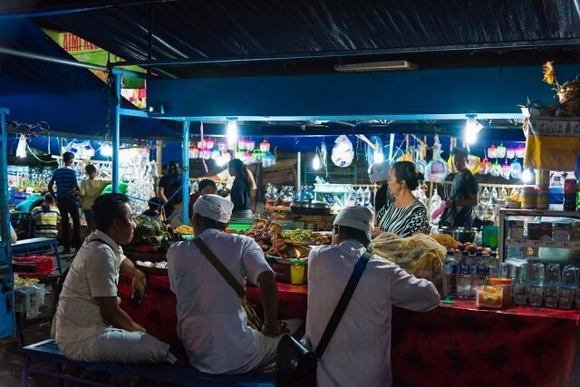 balinese food at the bali night market