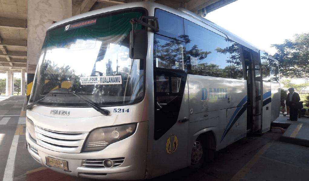 Bandara Kualanamu - Bus Damri