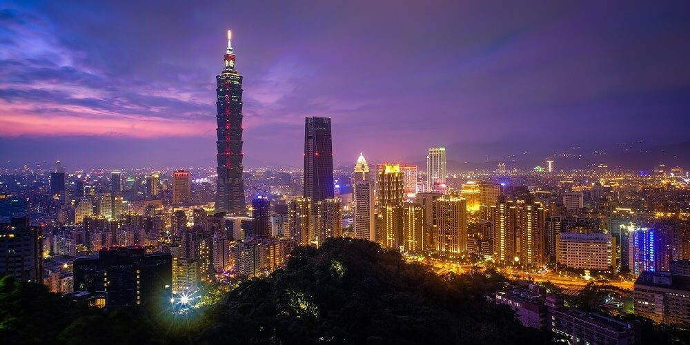 Spectacles of Taiwan Cities at Night