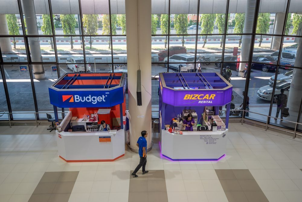 You can rent a car for your travel at these booths in Don Mueang Airport
