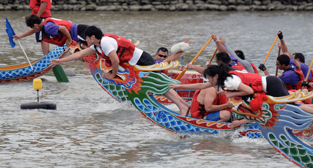 Come and watch the famous Chinese Dragon Boat Festival