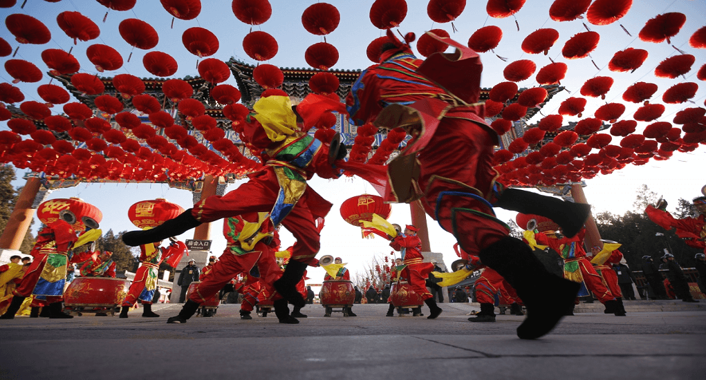 Chinese New Year - Ditan Park Temple Fair di Beijing