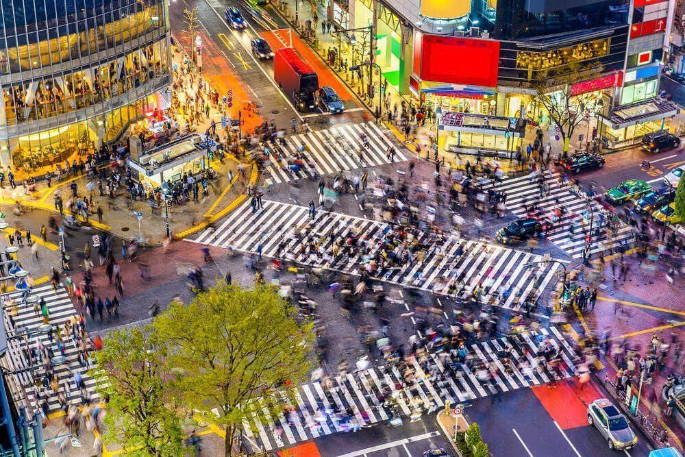 the atmosphere of cities in japan