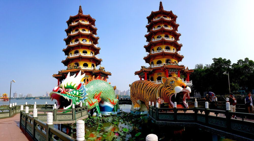 Dragon and Tiger Pagoda - Famous Tourist Attraction in Kaohsiung