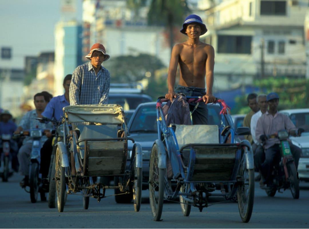 Cyclo Riksha di Kamboja