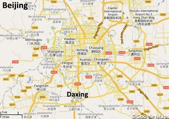 Lokasi Bandara Daxing, China