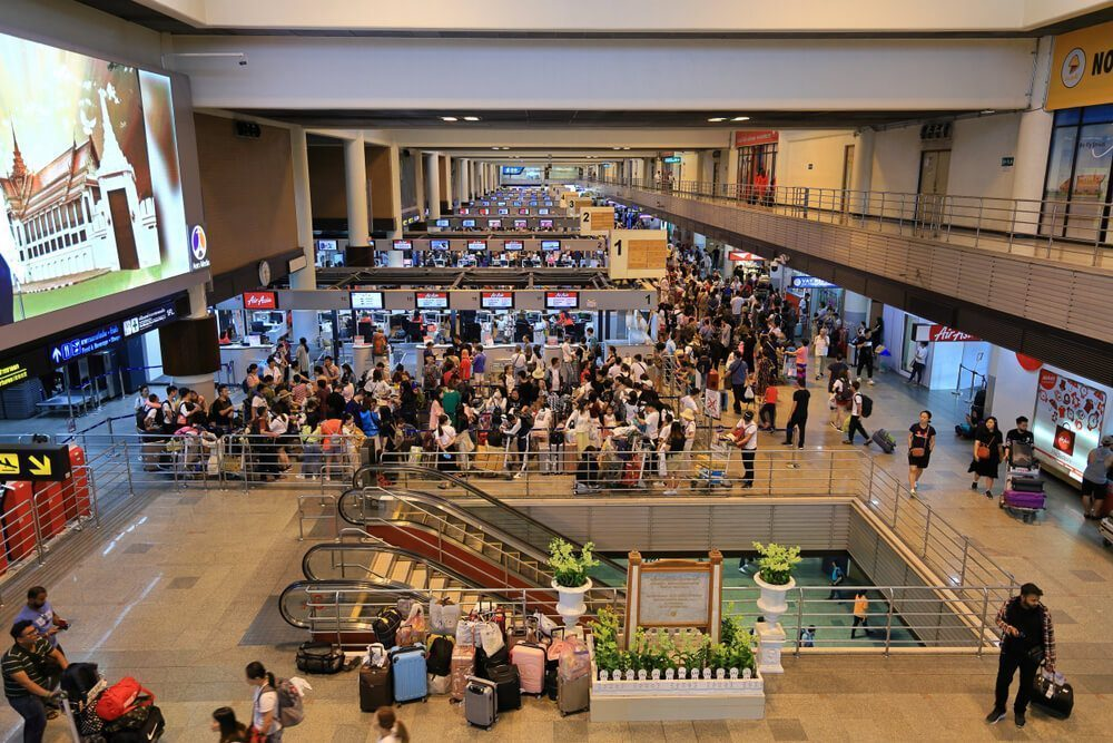 Don Mueang Airport Terminal 1 is mainly focused on international flights, but it also has a few domestic ones