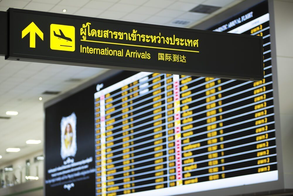 International arrivals area in Don Mueang Airport