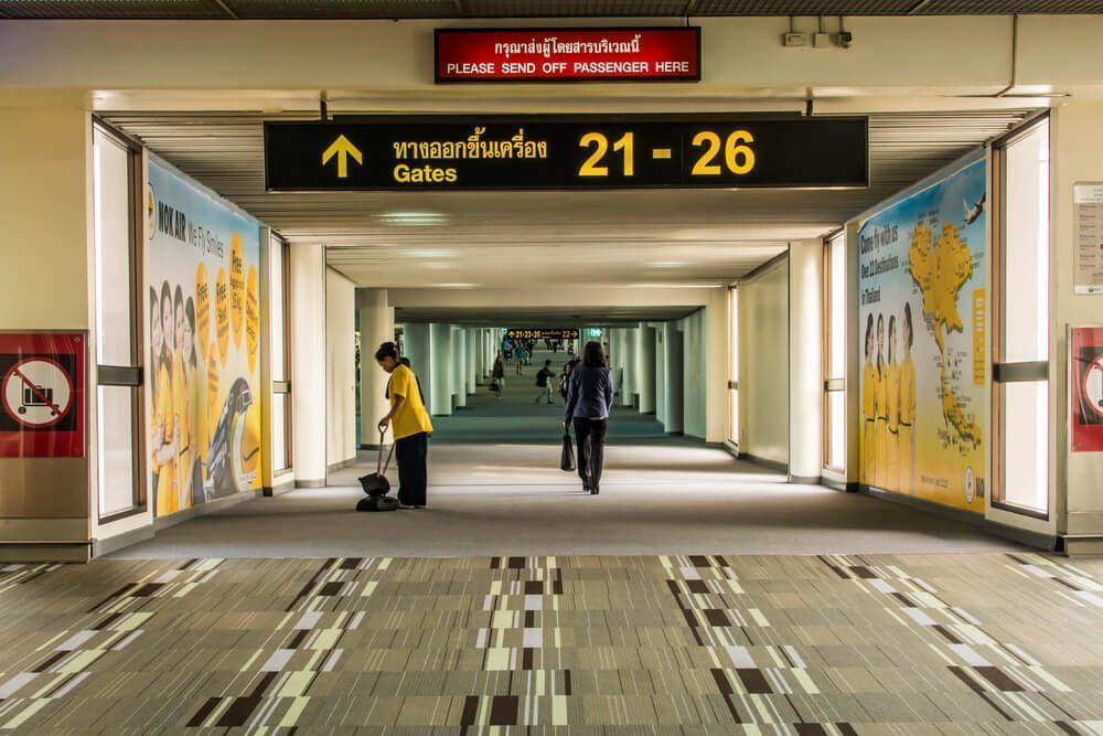 Gates 21-26 in Don Mueang Airport