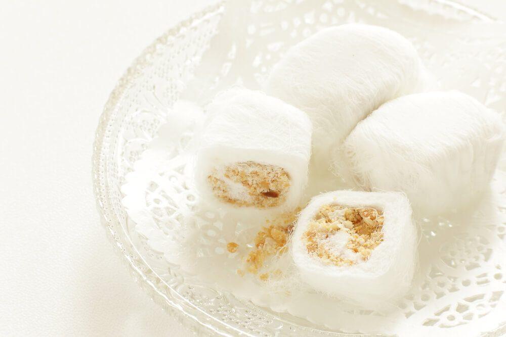 Dragon's Beard Candy is a delicate sweet that's best eaten as soon as it's made