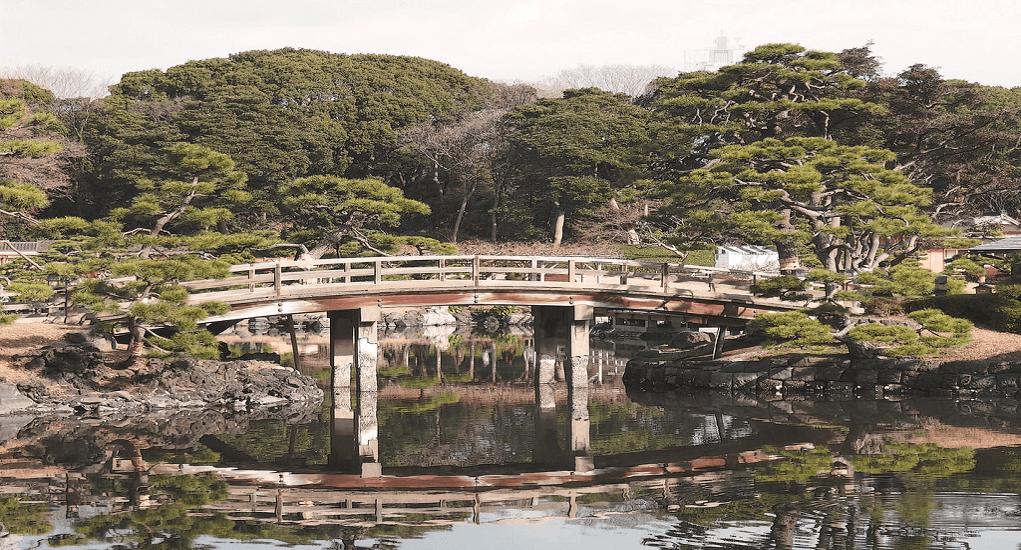 Hamarikyu Park - O-tsutai-Bashi