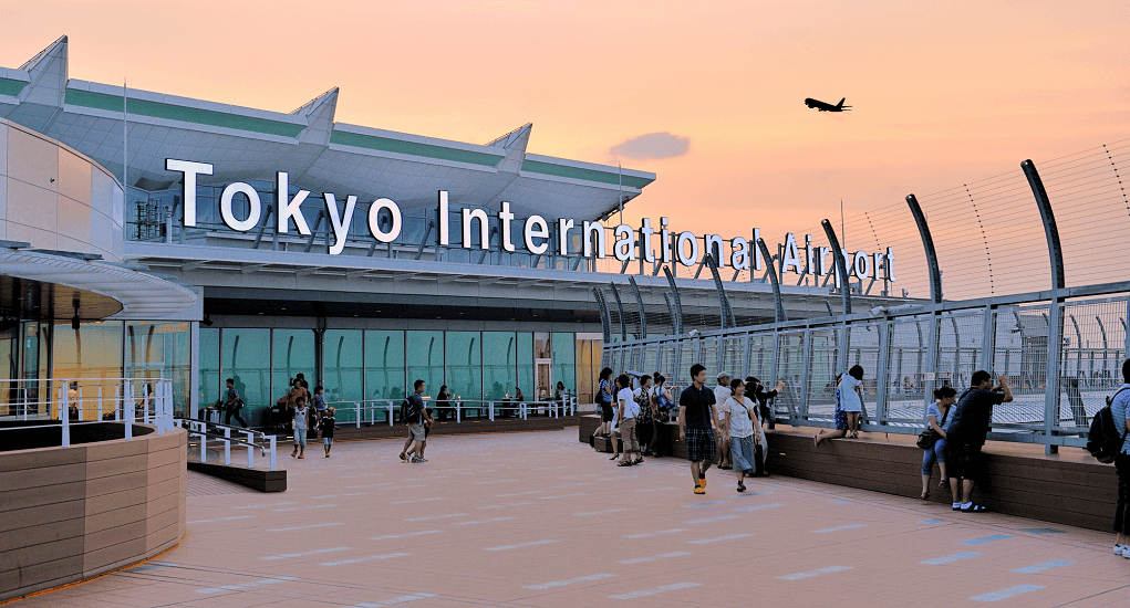 Haneda Airport - Admiring the night skies
