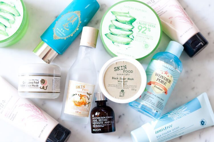 Korean cosmetics and skincare products