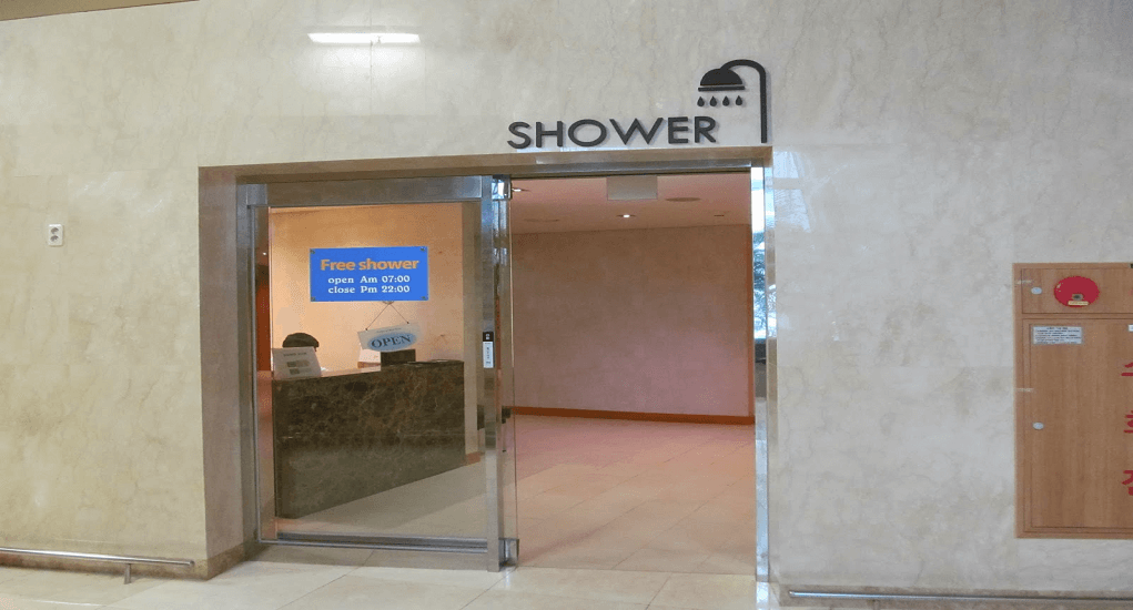 Incheon airport facility - Shower Rooms