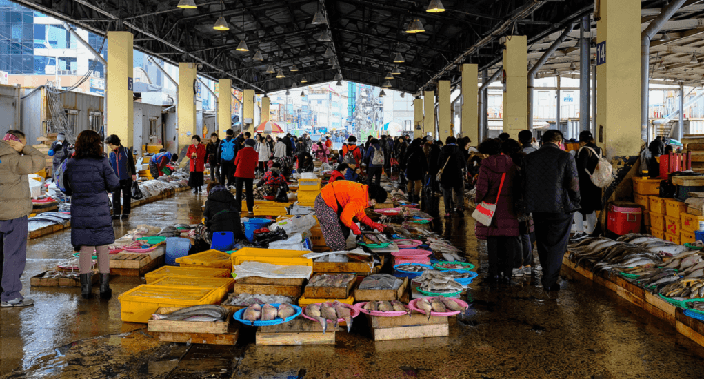 Jagalci Market - Ajumma adalah Para Pedagangnya