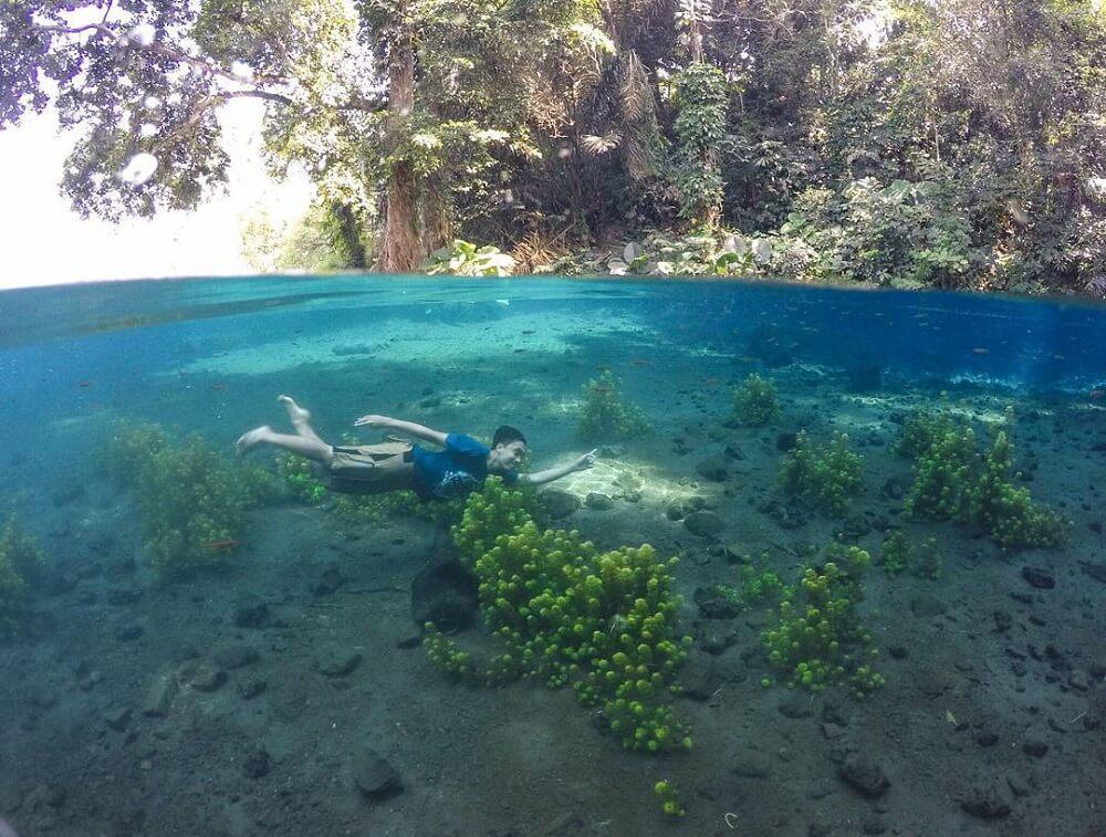 Liburan bersama keluarga di wisata alam Mata Air Sumber Sira