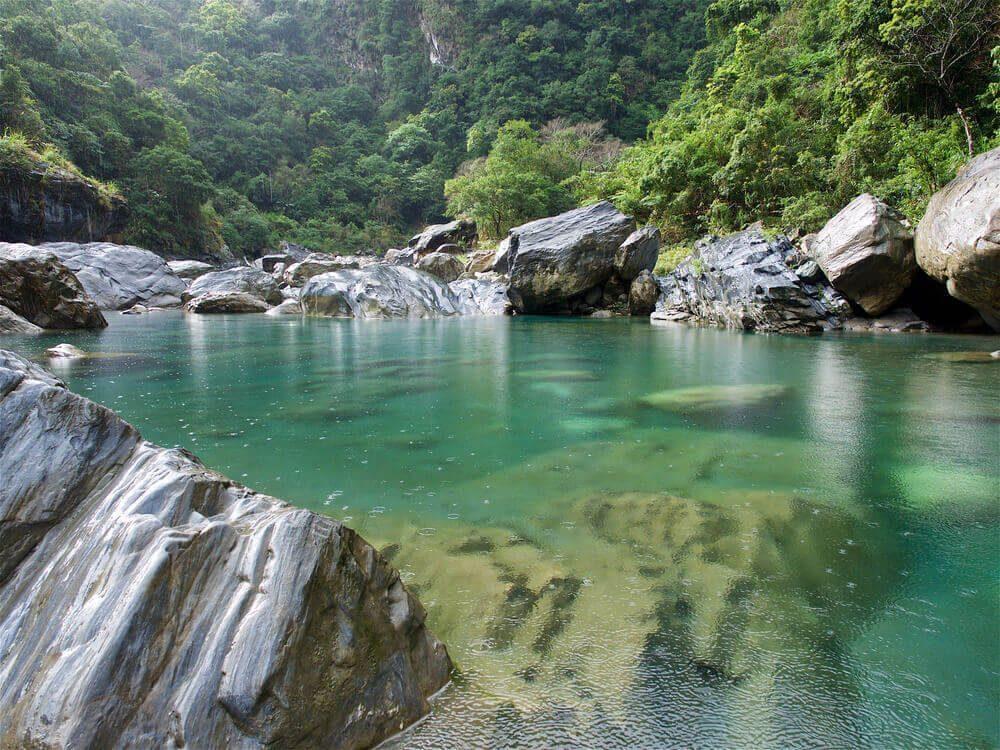 Jernihnya air di wisata Mukumugi, Taiwan
