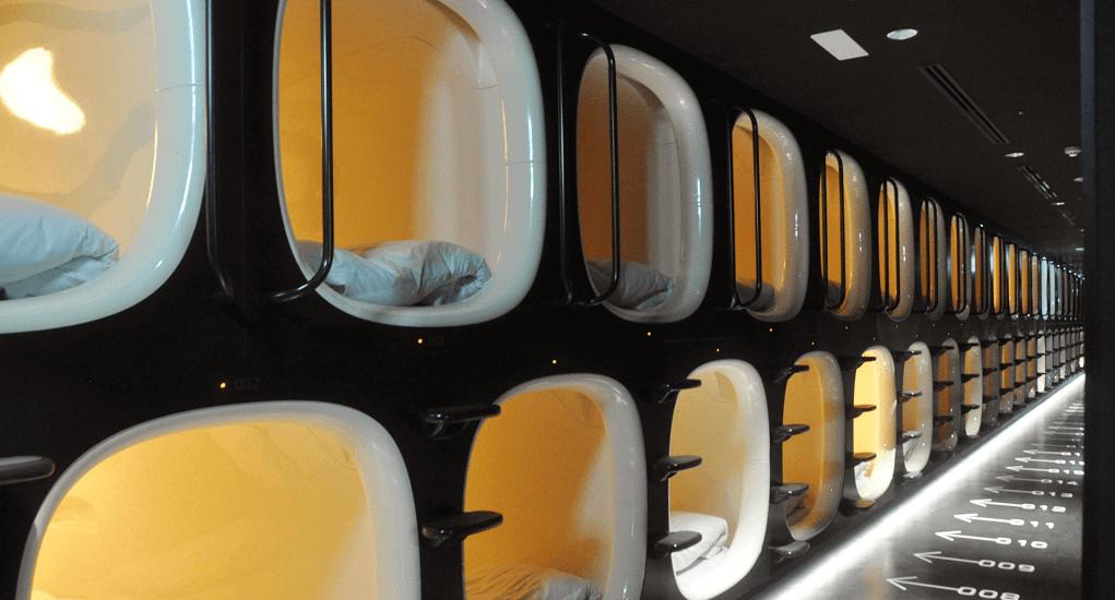 Narita Airport - Sleep in a capsule room
