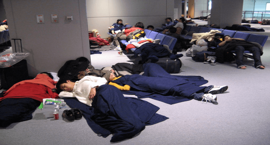 Narita Airport - Sleeping at the airport