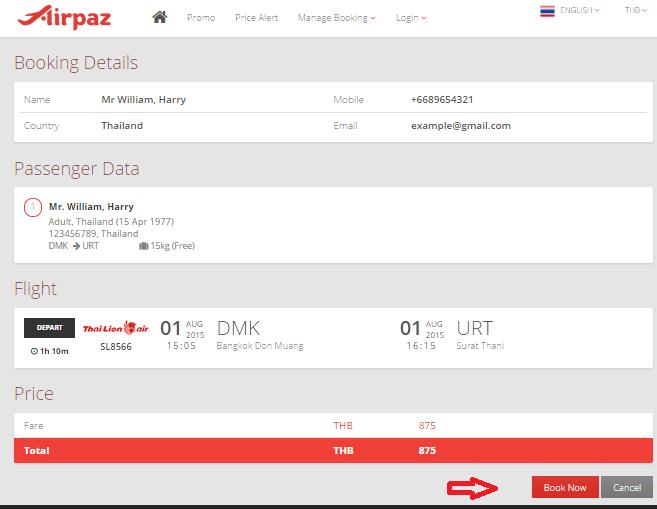 Now Airpaz.com accept 123 Service (2C2P) for Payment Method 1d
