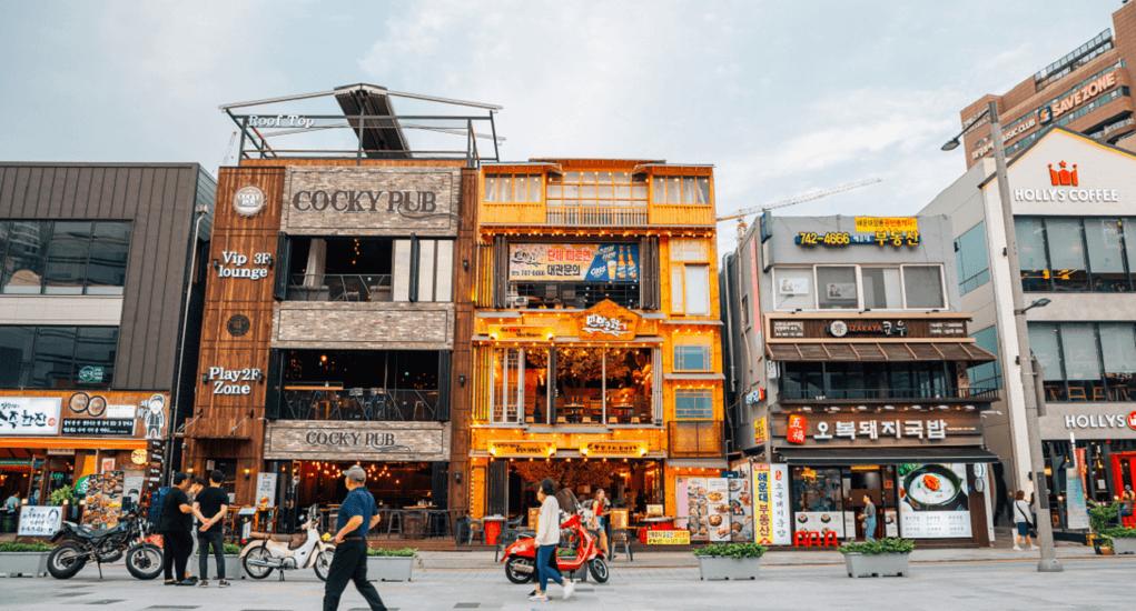 Pantai Haeundae - Resto yang Menyediakan Makanan dan Minuman