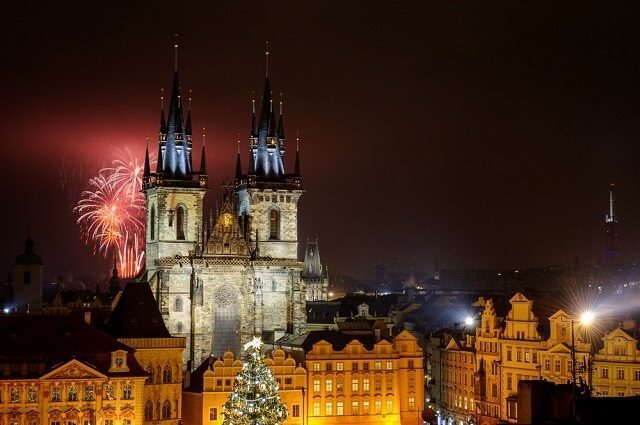 new year celebration in prague