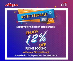 Airpaz Promo Malaysia - Promo City Cybersale