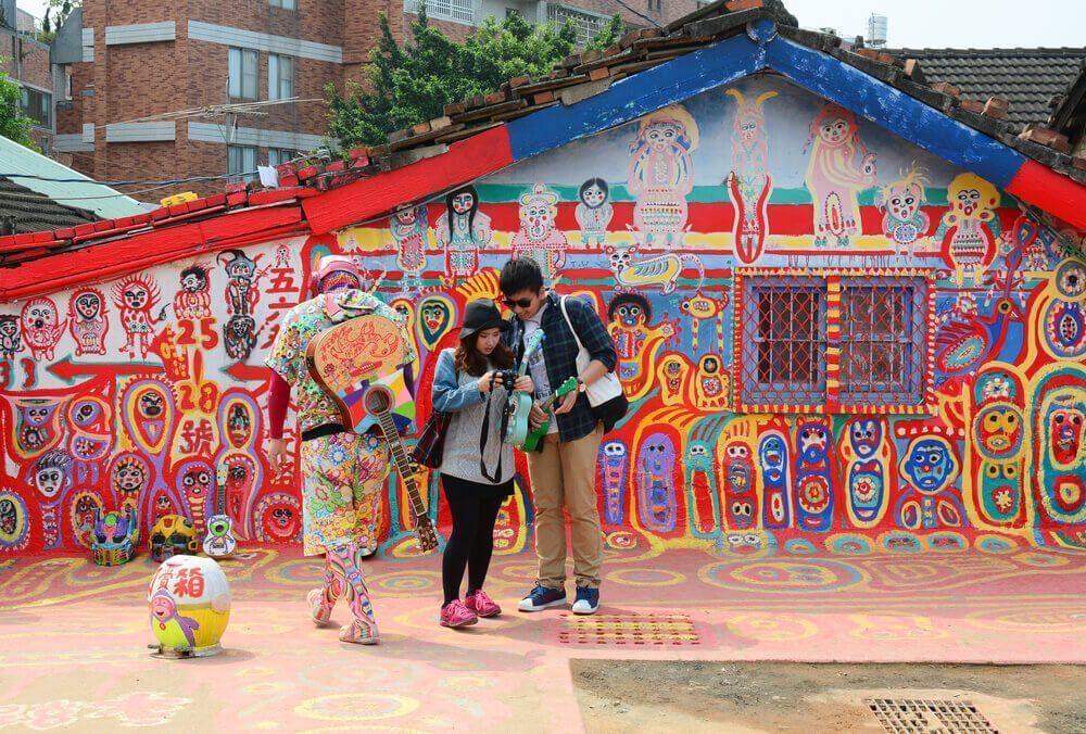 Warna-warni menarik di Rianbow Village, Taiwan