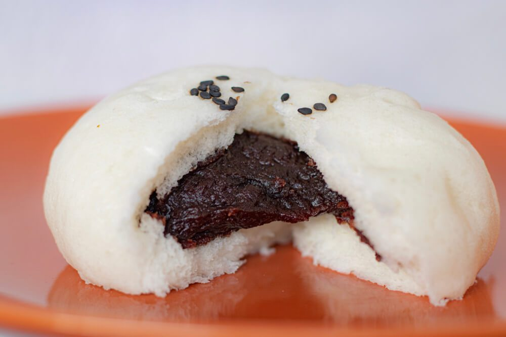 Red Bean Bun has red bean paste filling instead of meat or chocolate