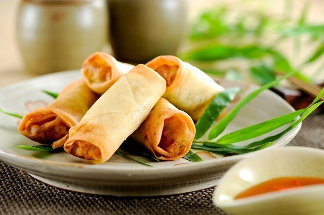 lucky foods spring rolls