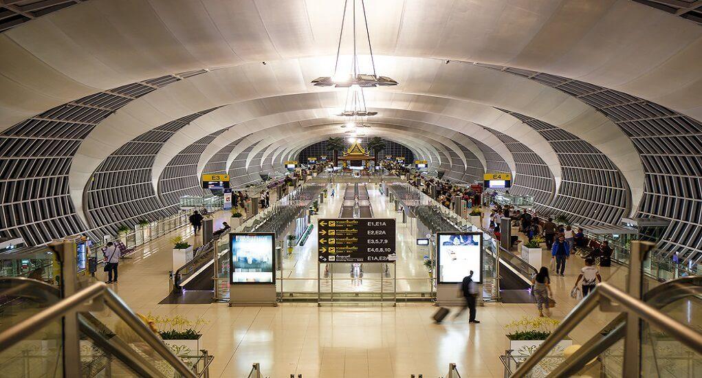 The terminal in Suvarnabhumi Airport