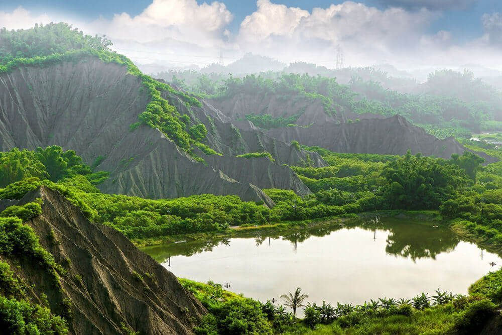 The spectacular view of Tianliao Moon World in Taiwan
