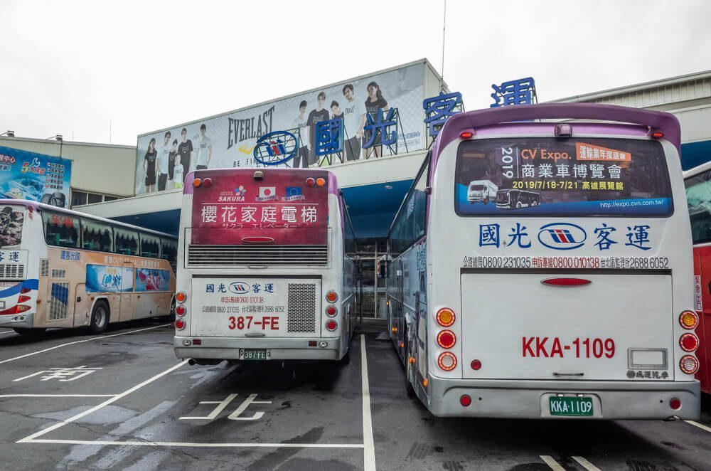 Long Distance Bus - The Main Inter-City Transportation from Taiwan
