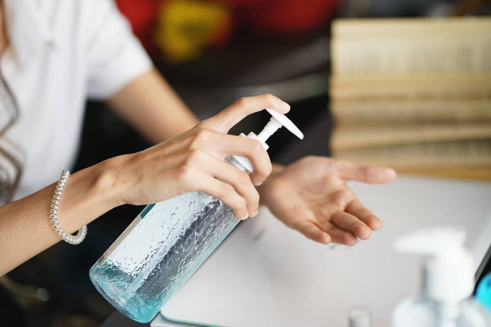 Keep your hands clean with hand sanitizer