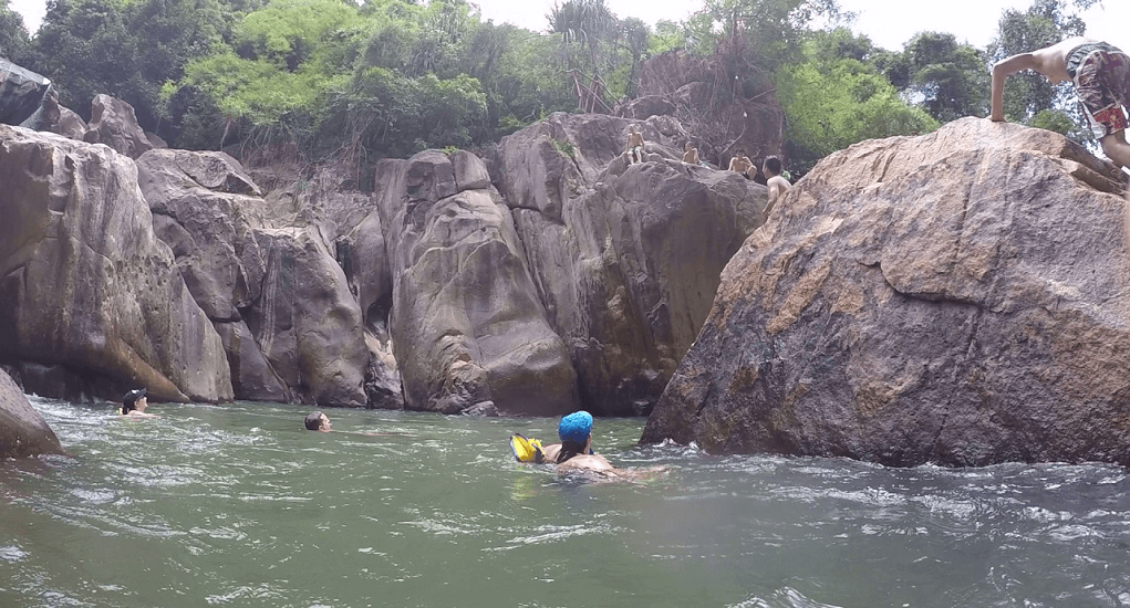 Vietnam - Cliff jumping at Ba Ho Falls in Nha Trang